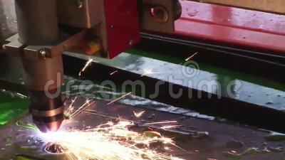 Macchina industriale del plasma stock footage