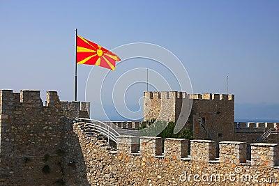 Macedonische Vlag Royalty Vrije Stock Fotografie