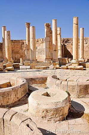 The macellum (the market), Jerash (Jordan)