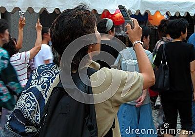 Machen der Fotos Redaktionelles Bild