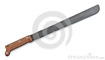 Machete with Wooden Handle