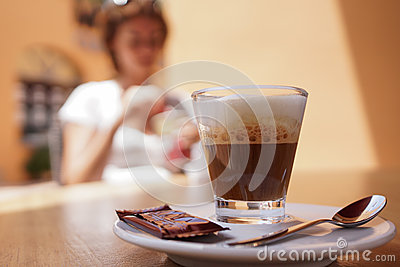 Machiato de café express