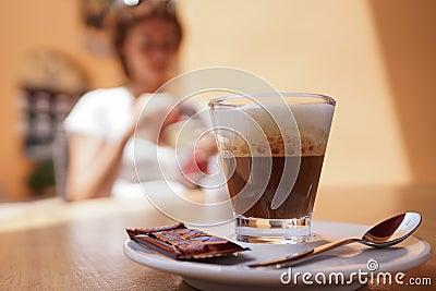 Machiato van de espresso