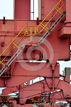 Machine in container goods yard
