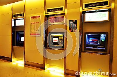 Machine d Atmosphère-argent comptant Image éditorial