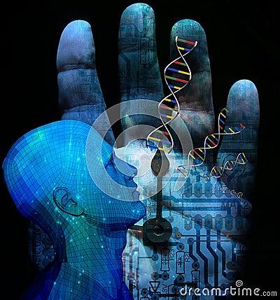 Free Machine DNA Stock Image - 12083871