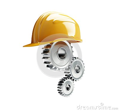 Machine gear construction helmet