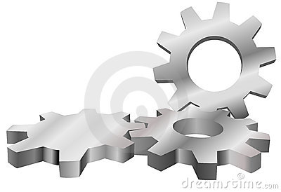 Machine gears mesh form industrial background