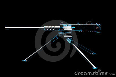 Machine Gun (3D xray blue)
