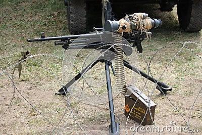 Machine-gun .50 call Editorial Stock Image