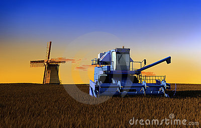 Machine for harvesting