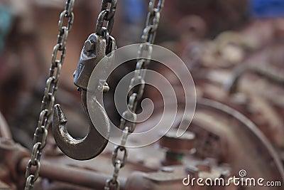 Machine hook and chain