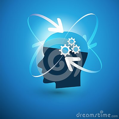 Free Machine Learning, Artificial Intelligence, Cloud Computing And Networks Design Concept With Arrows And Human Head Royalty Free Stock Photos - 141540838