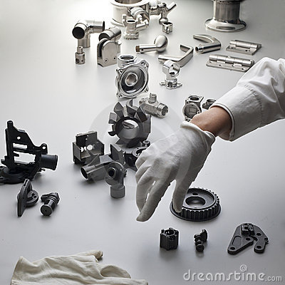Machine parts and hand