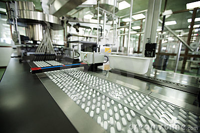 Machine in a pharmaceutical company