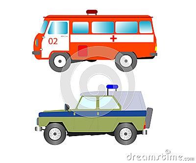 Machine to ambulance and police bodies