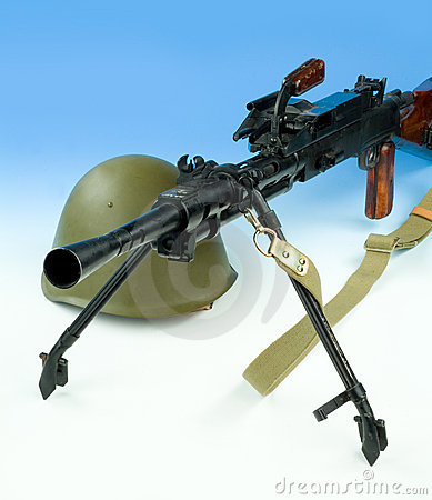 Machinegun And Helmet