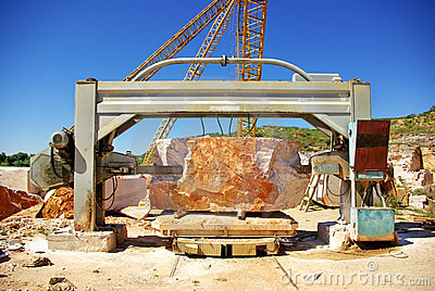 Machinery in quarry of marble .