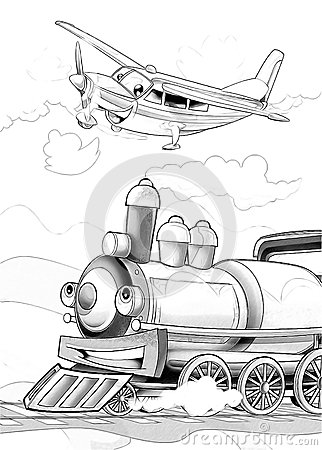 Machines - artistic coloring page