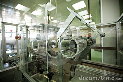Machines in a pharmaceutical industry