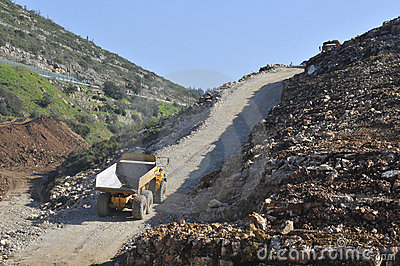 Machines work on public works Editorial Stock Photo