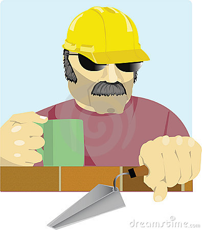 Macho bricklayer