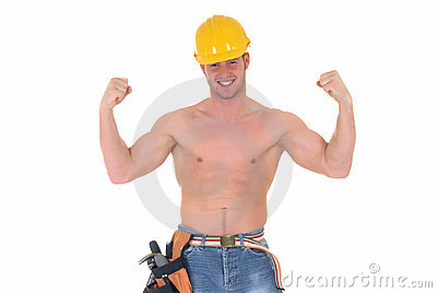 Macho construction worker
