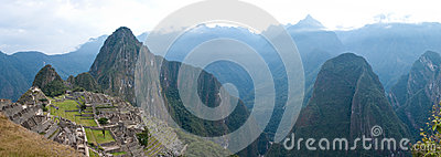 Machu Picchu with Huayna (Wayna) Picchu behind