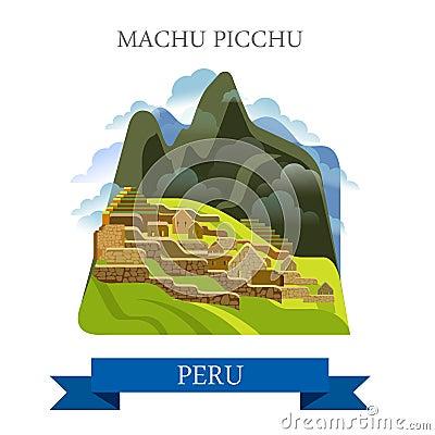Free Machu Picchu In Peru Vector Flat Attraction Landmarks Stock Photos - 69372663
