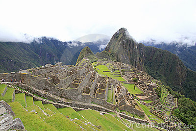 Machu Picchu s houses and terraces