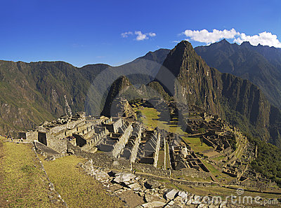 Machu Picchu in the soft morning sun