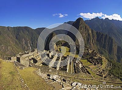 Machu Picchu in the soft morning sun
