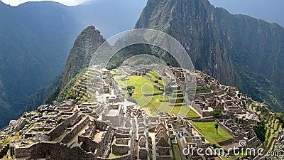 Machu Picchu - vista atrás da parede