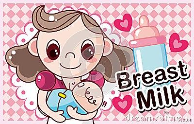 Macierzysty karmienie dziecko