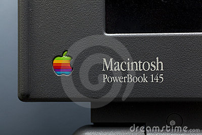 Macintosh power book 145 Editorial Stock Image