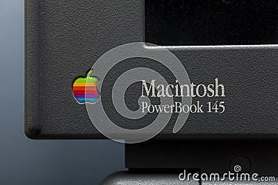 Macintosh power book 145 Editorial Stock Image