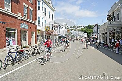 Mackiinac Island, Michigan, Bikes, Bikes, Bikes Editorial Stock Photo