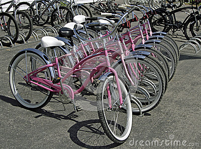 Mackinac Island, Michigan ,, Bikes, Bikes, Bikes Editorial Photo