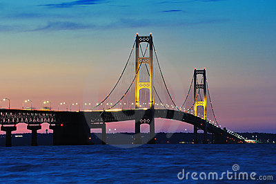 Mackinac Bridge Sunset, Mackinaw City Michigan,USA