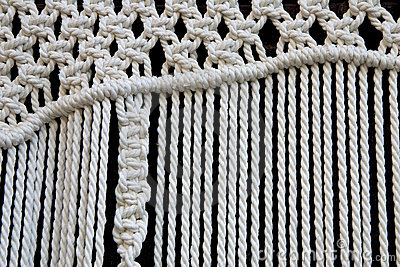 Macrame curtain detail