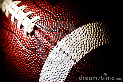 Macro of an American football