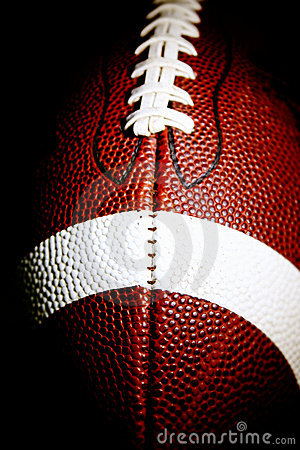 Macro of an American football
