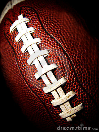 Macro of an American football vertical
