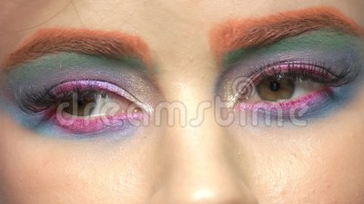 Macro artístico da composição do olho filme