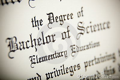 A macro of a Bachelor of Science Degree