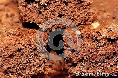 Macro brown cake