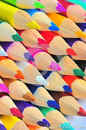 Macro crayons - colorful pencils