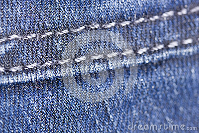 Macro denim stitch