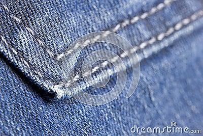 Macro denim stitch