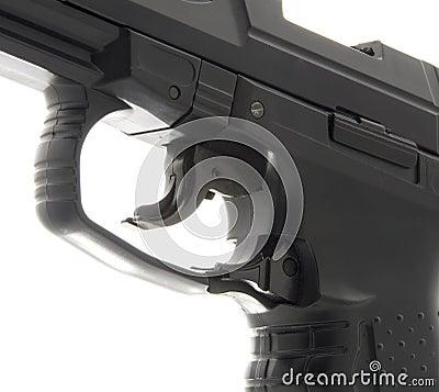 Macro Details of Pistol Trigger